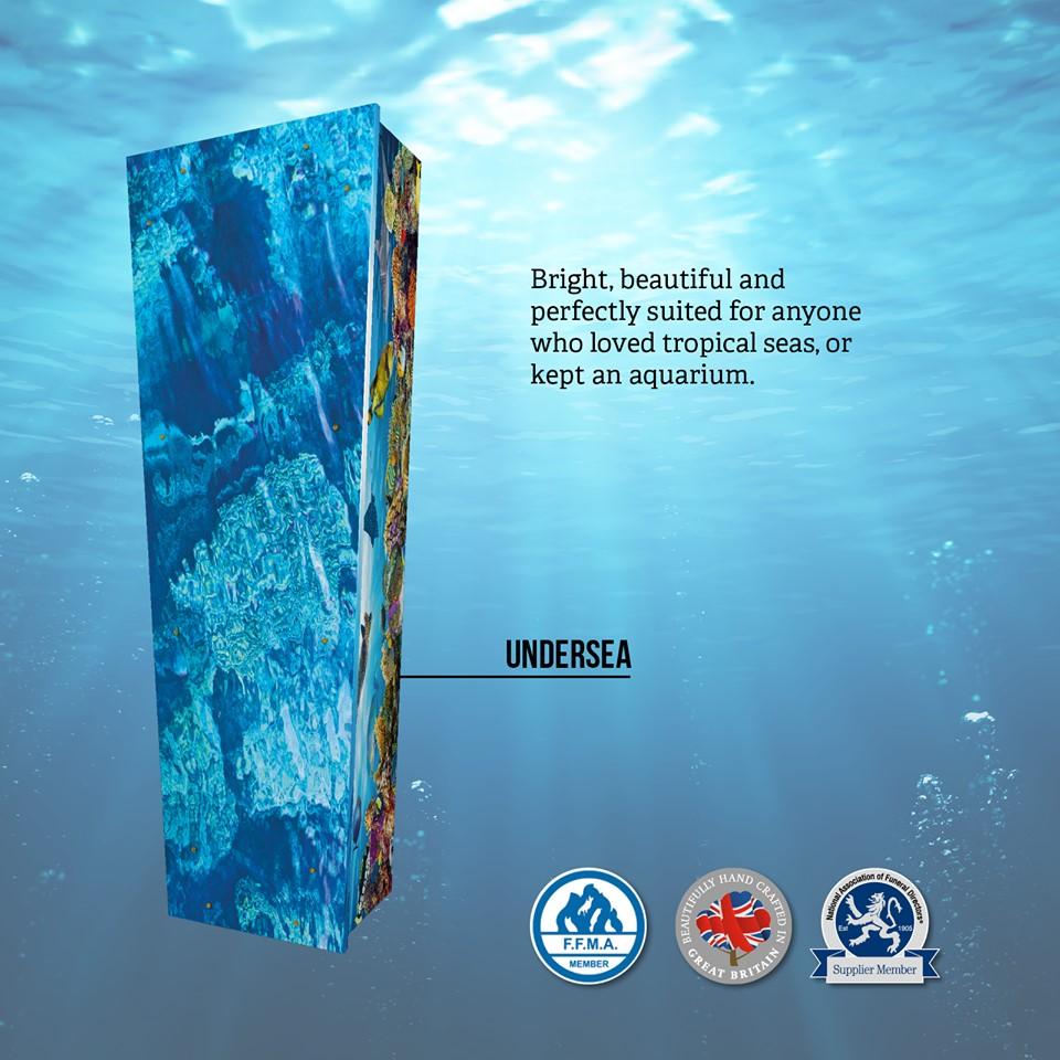 Undersea Themed Coffin