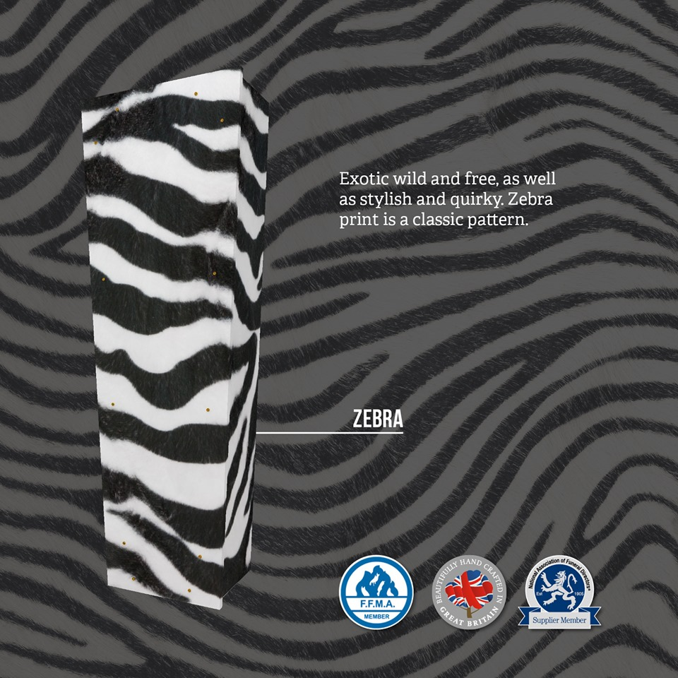 Zebra Themed Coffin
