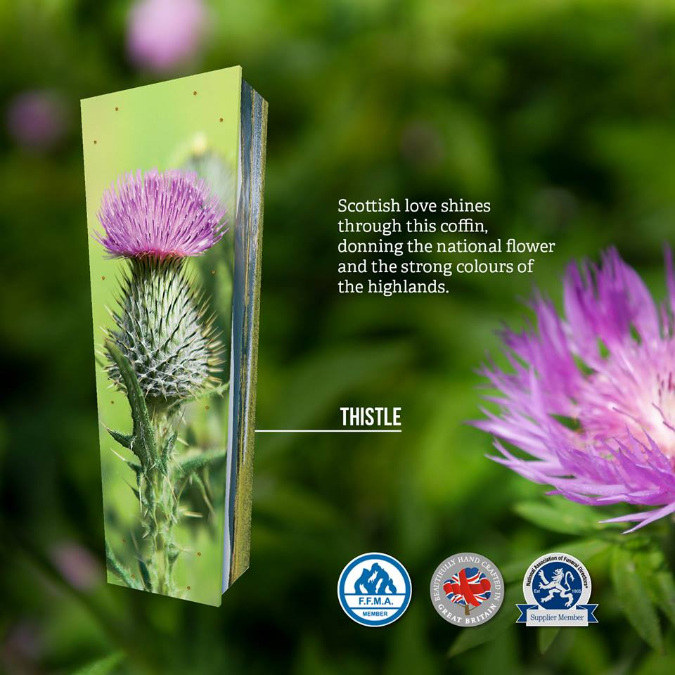 Thistle Themed Coffin