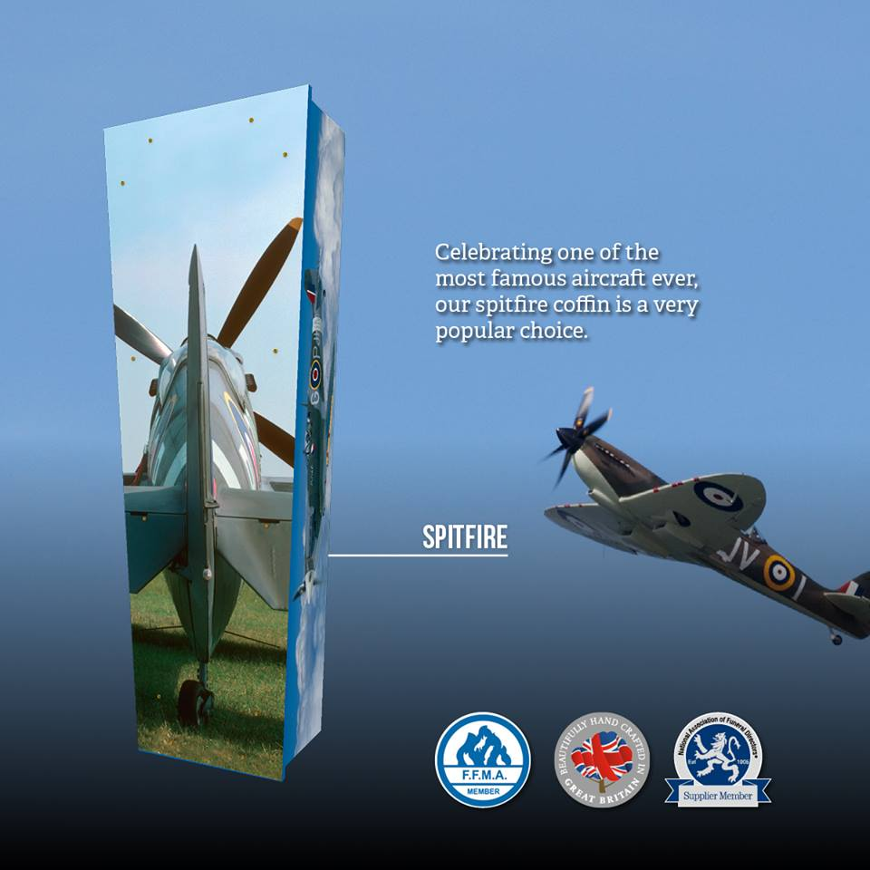 Spitfire Themed Coffin