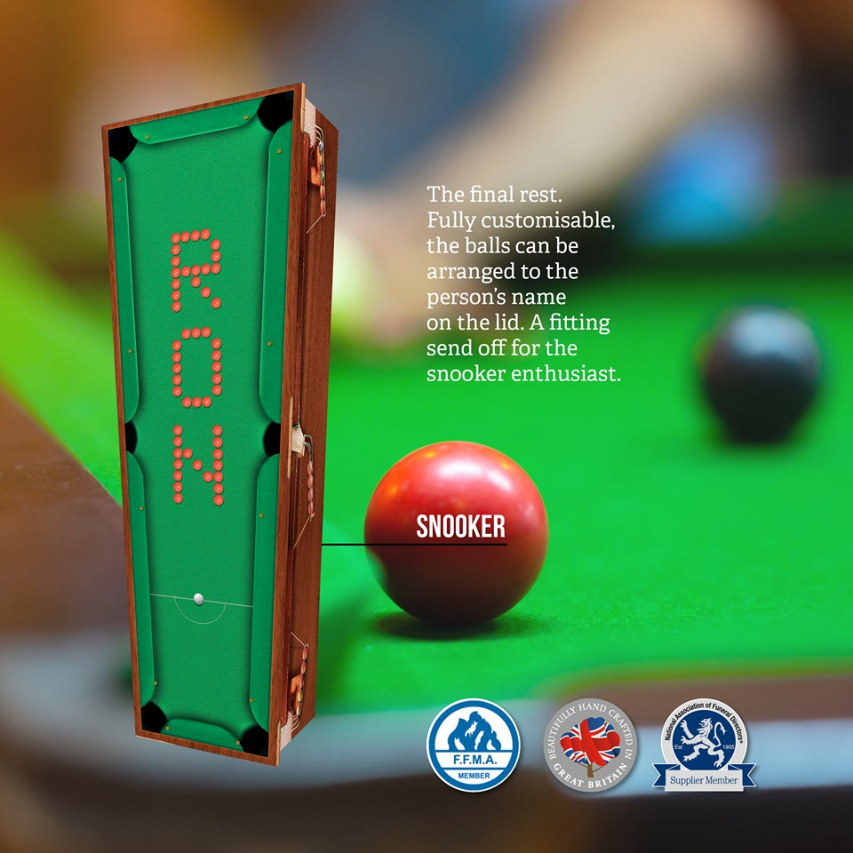Snooker Themed Coffin