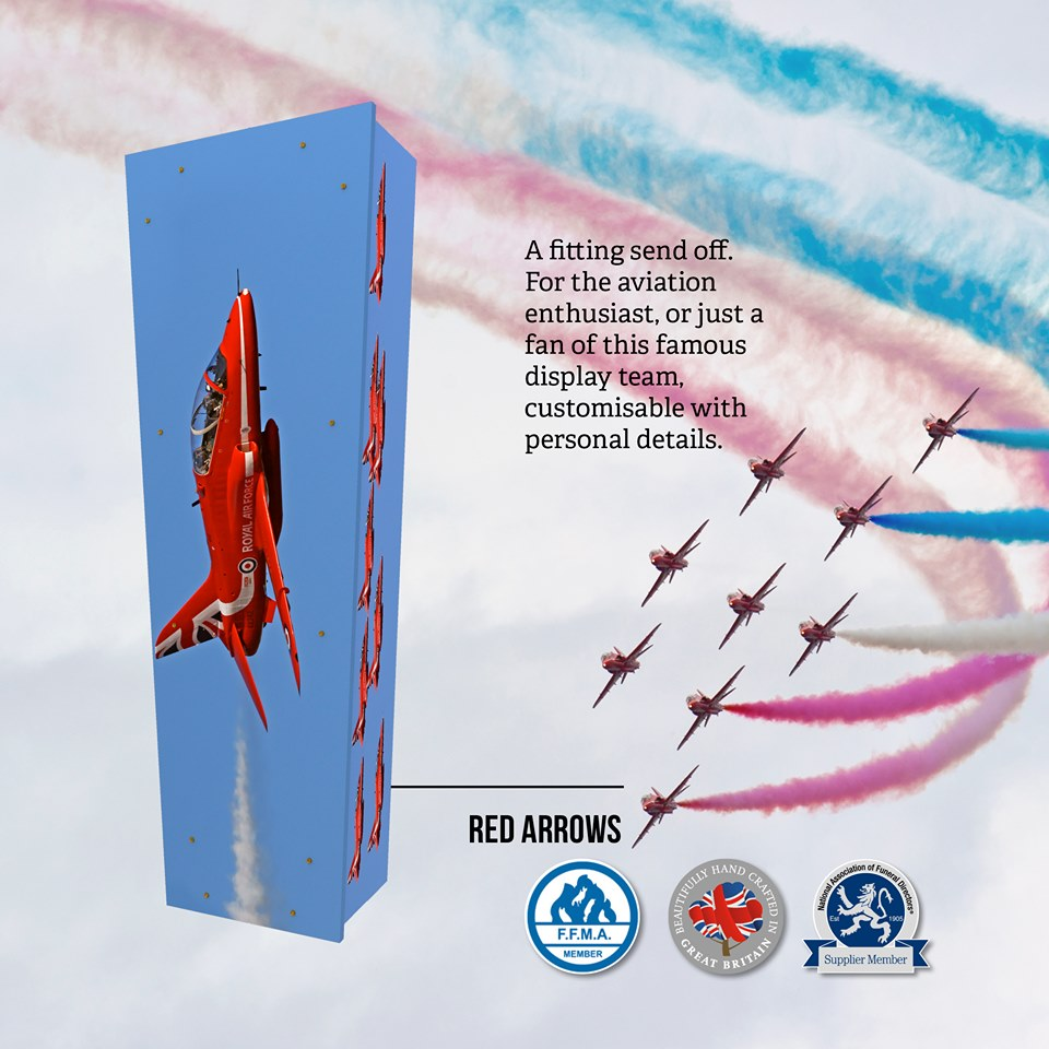 Red Arrows Themed Coffin