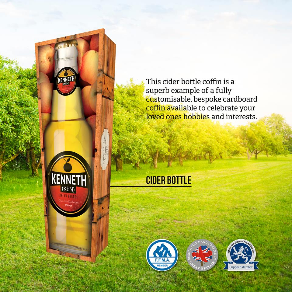 Cider Bottle Themed Coffin