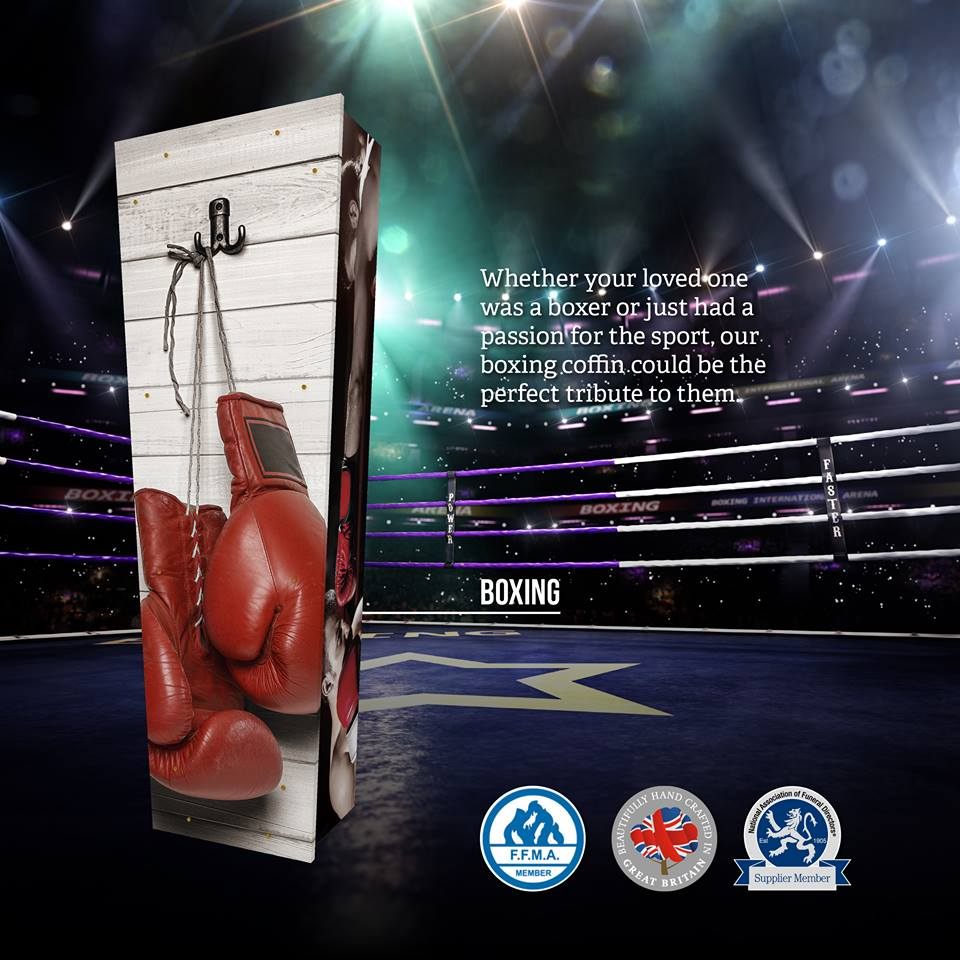 Boxing Themed Coffin