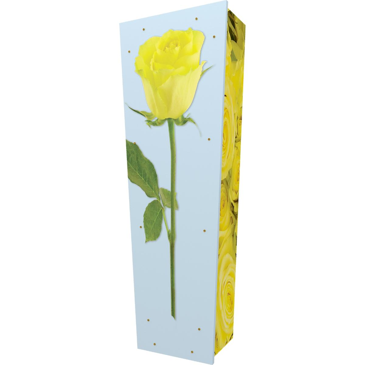 Yellow Rose Coffin
