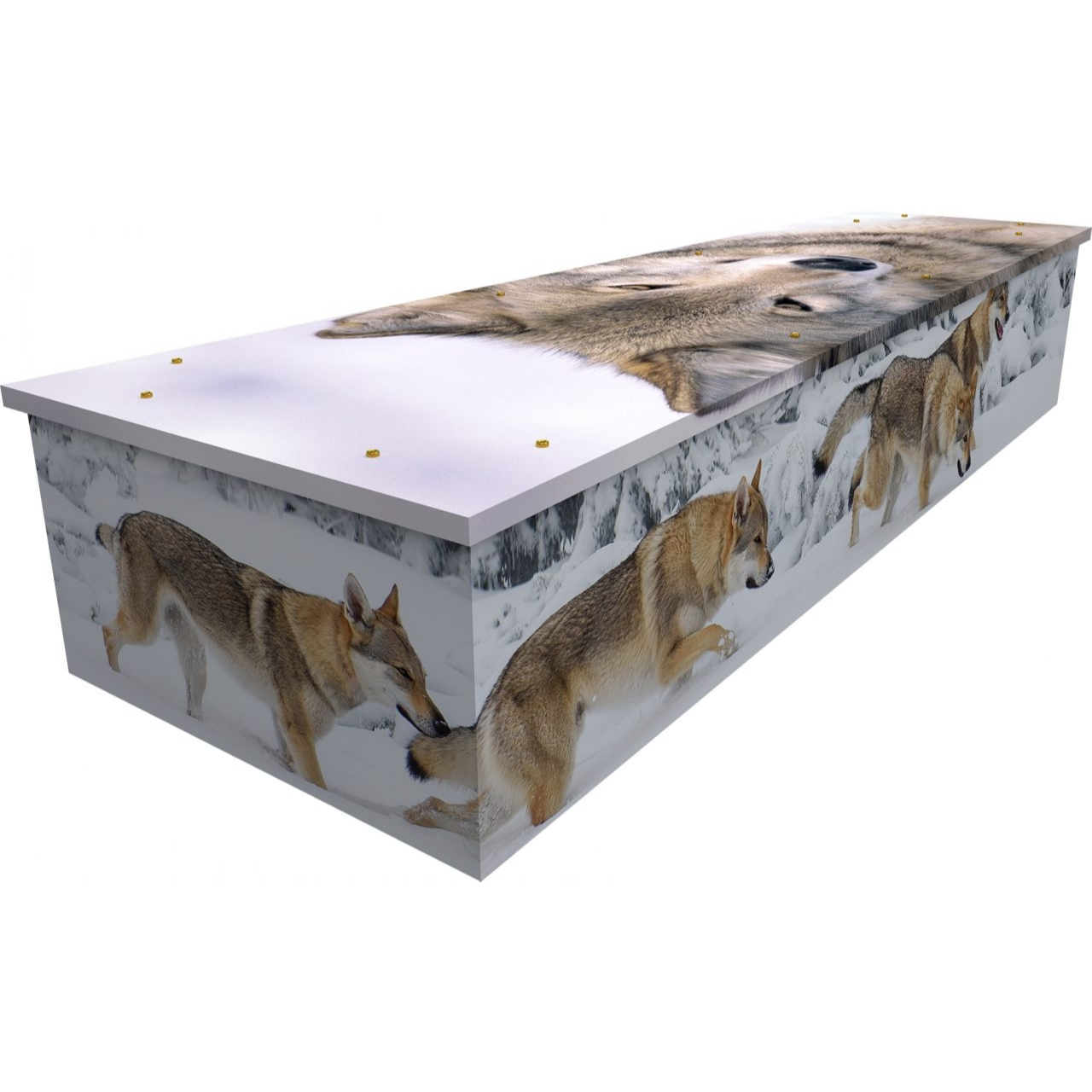 Wolves Cardboard Coffin