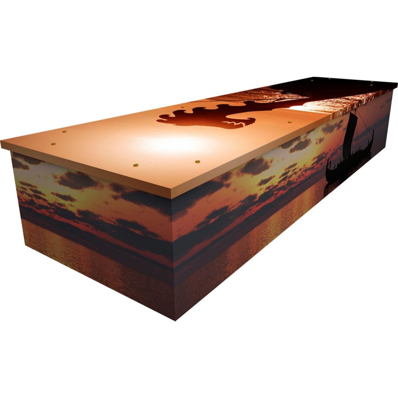 Viking Sunset Cardboard Coffin