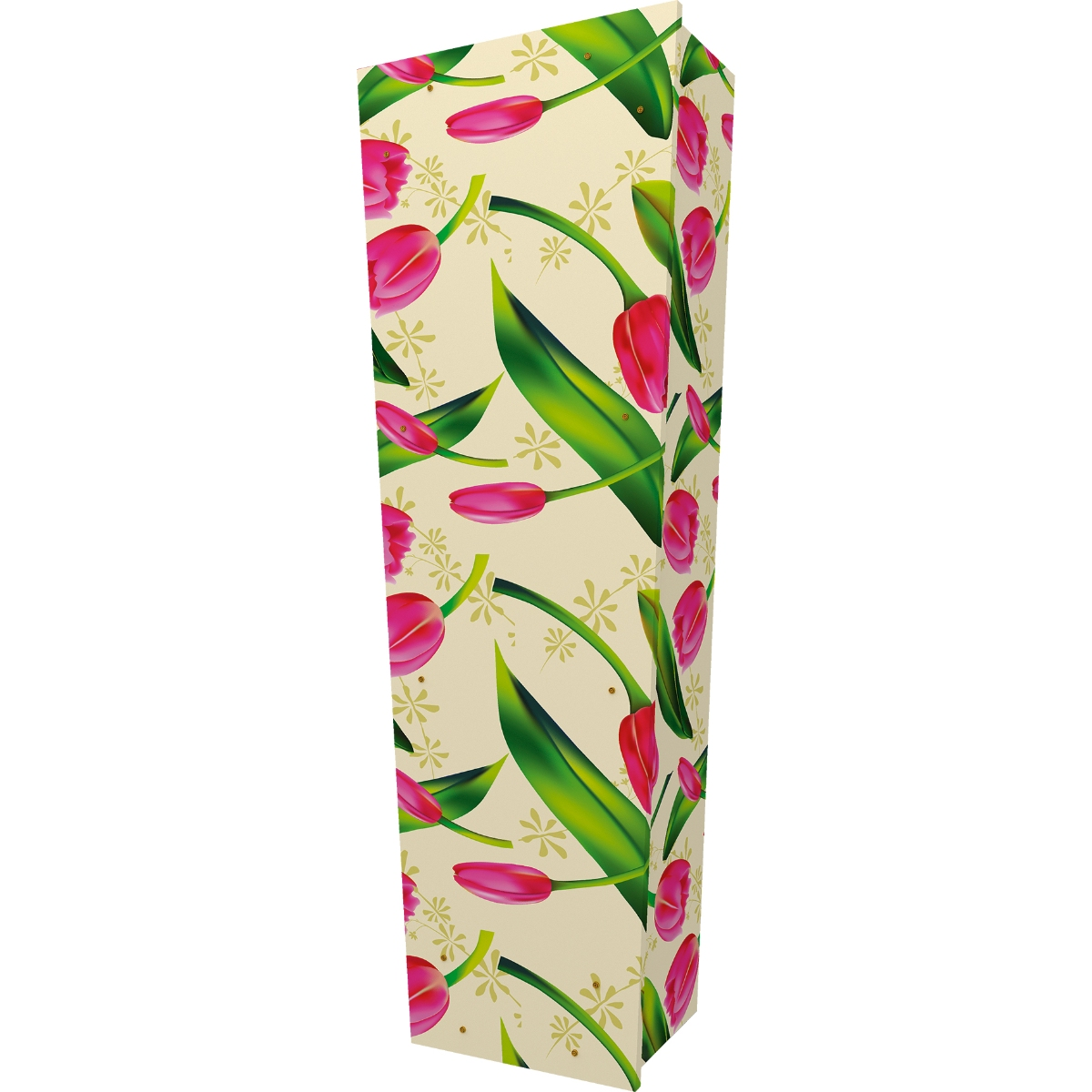 Tulip Pattern Coffin