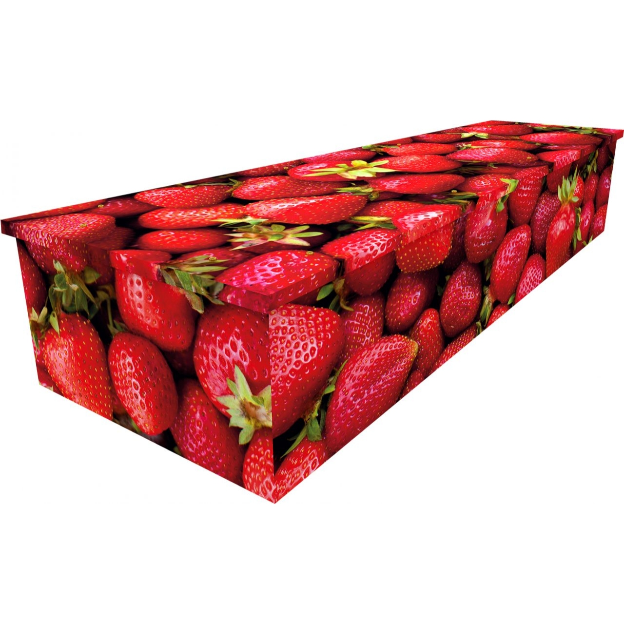 Strawberries Cardboard Coffin