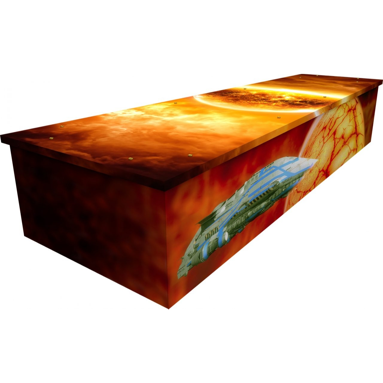 Space Fantasy Cardboard Coffin