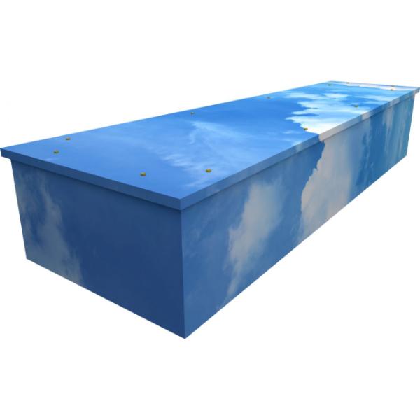 Sky Cardboard Coffin