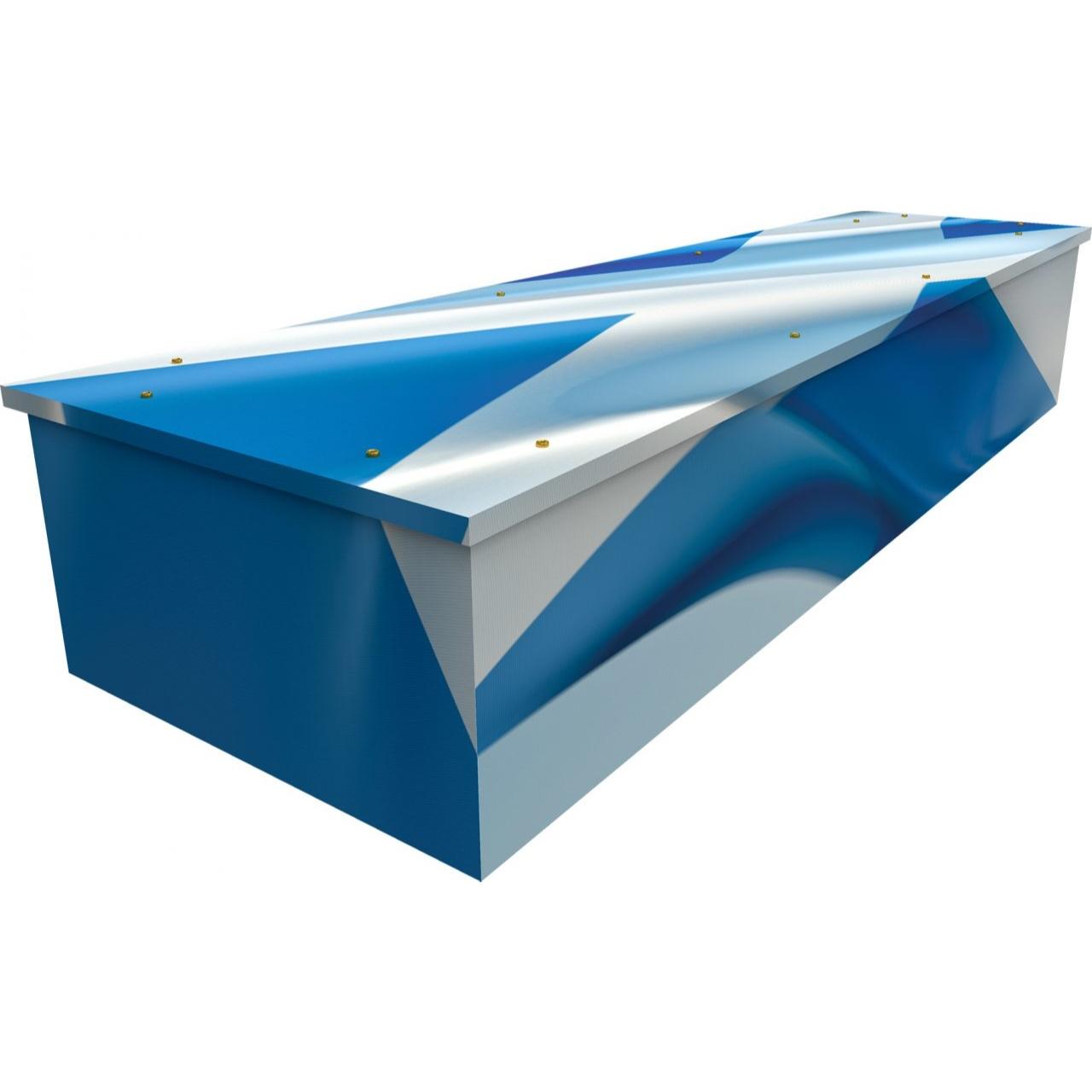 Scottish Flag Cardboard Coffin