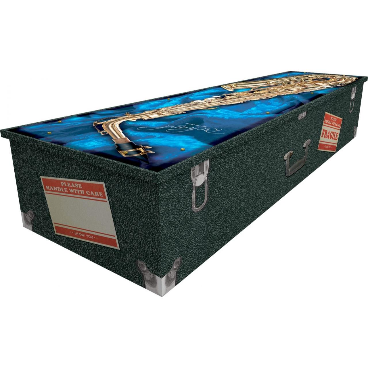 Saxophone Cardboard Coffin