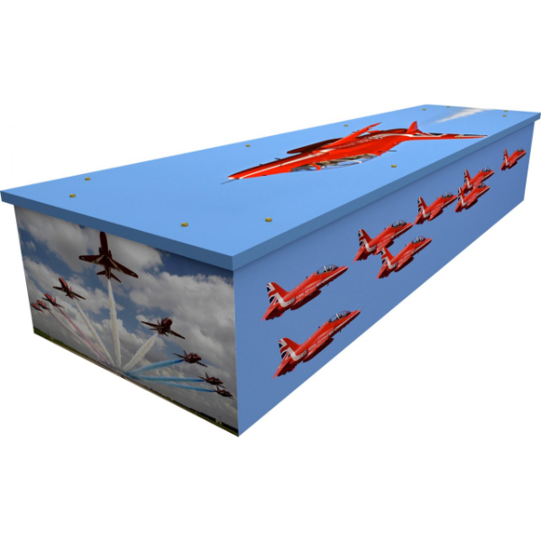 Red Arrows Cardboard Coffin