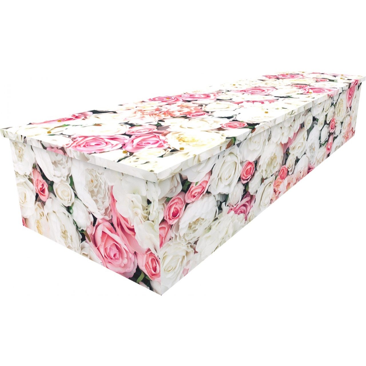 Pink Rose Wall Cardboard Coffin