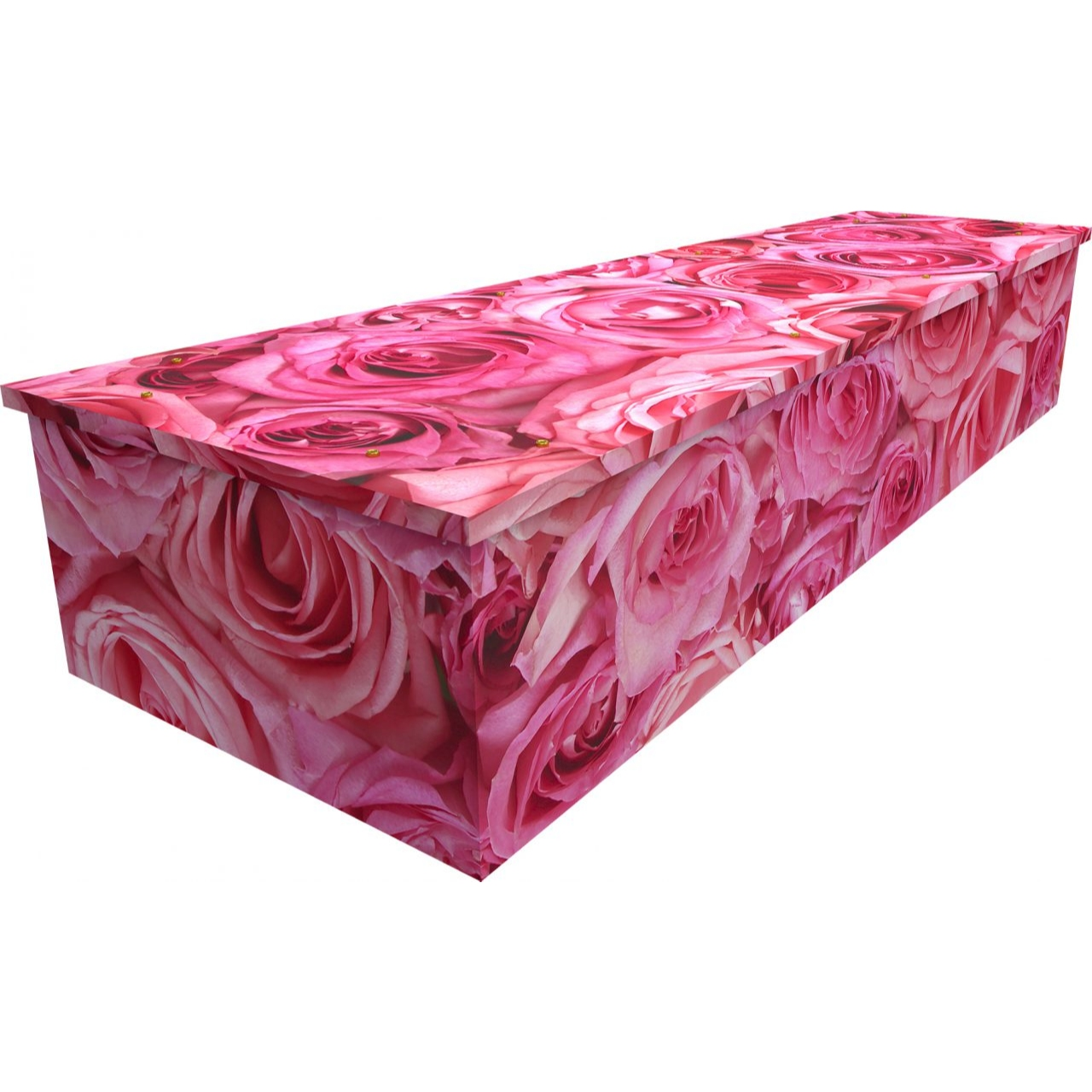 Pink Rose Cardboard Coffin