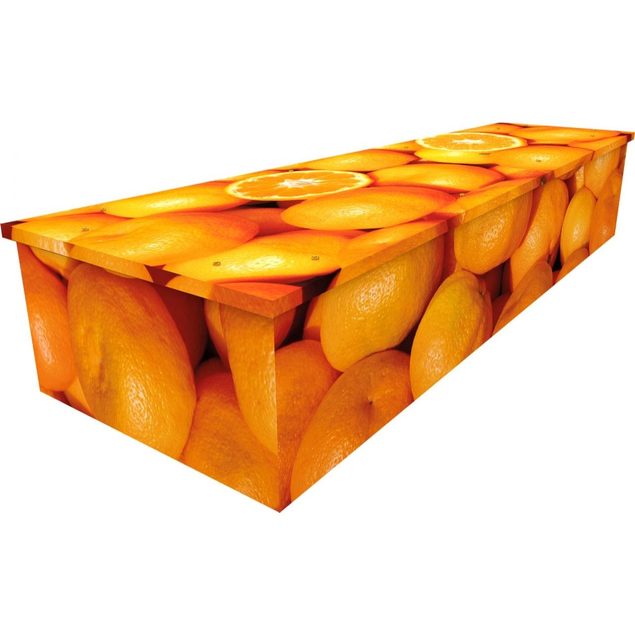 Oranges Cardboard Coffin