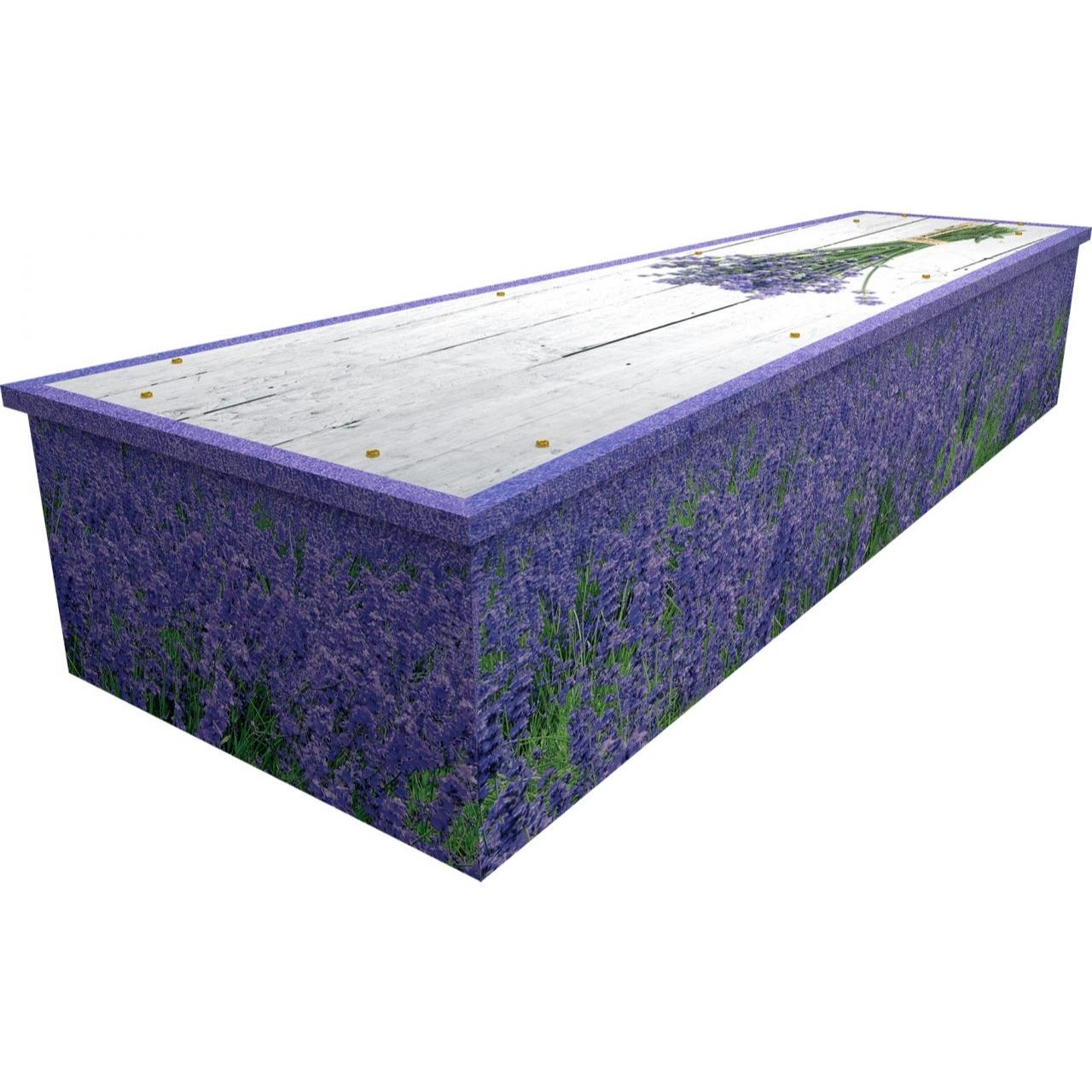 Lavender Cardboard Coffin