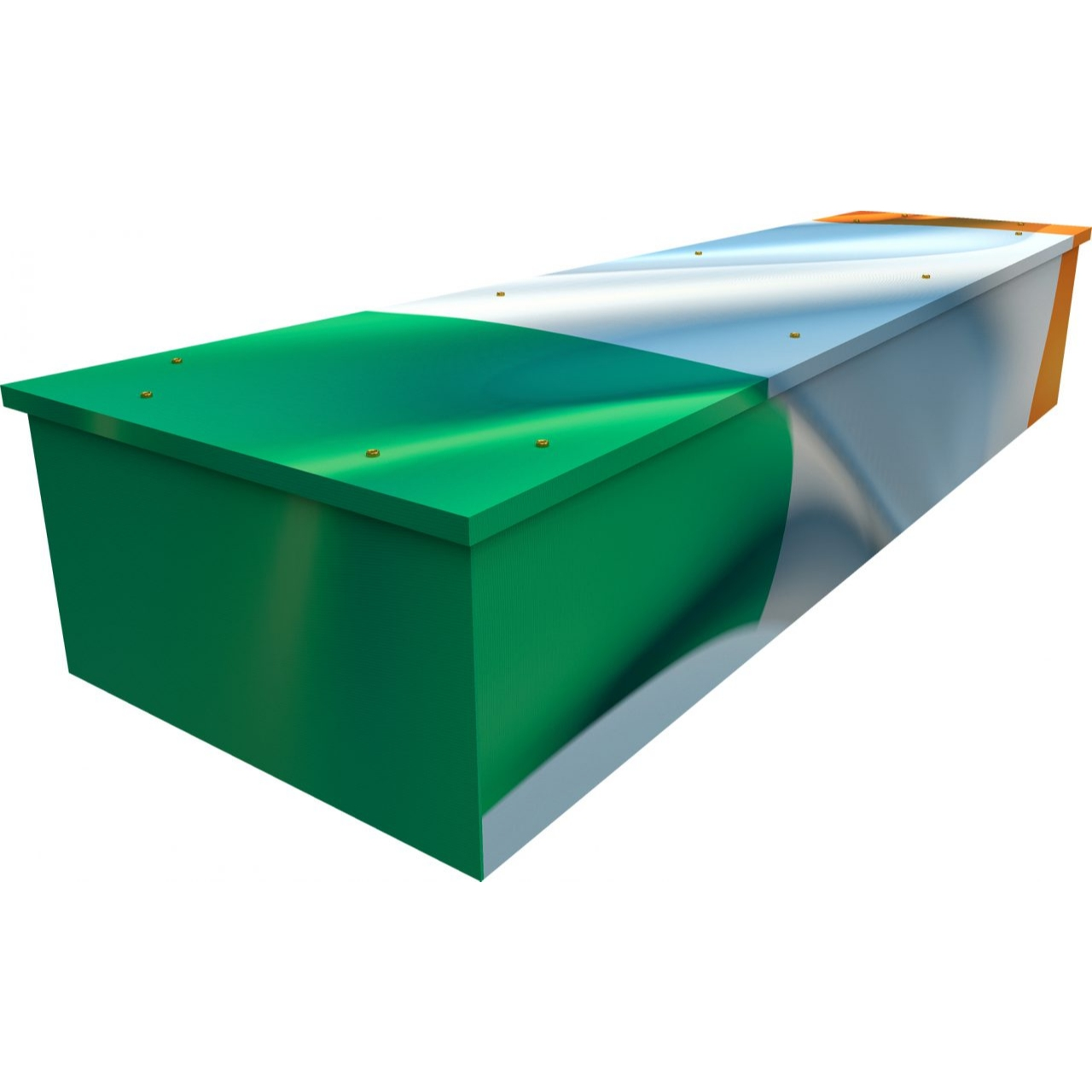 Irish Flag Cardboard Coffin