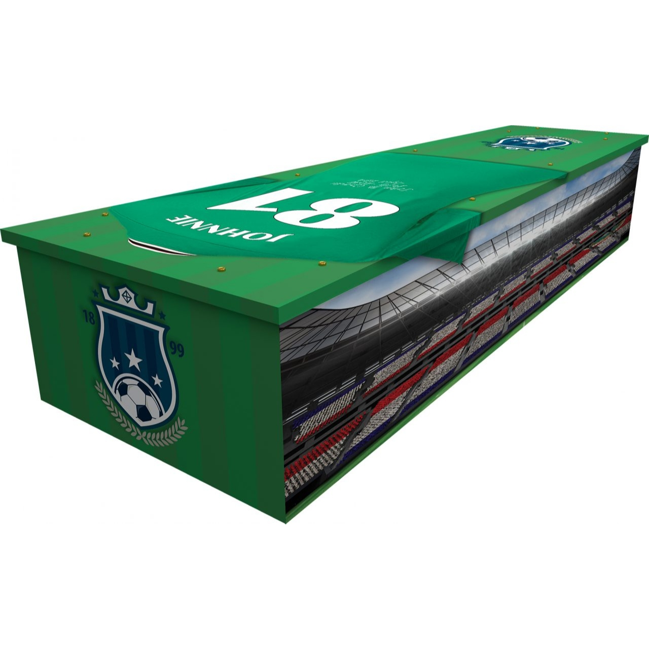 Football Club Cardboard Coffin