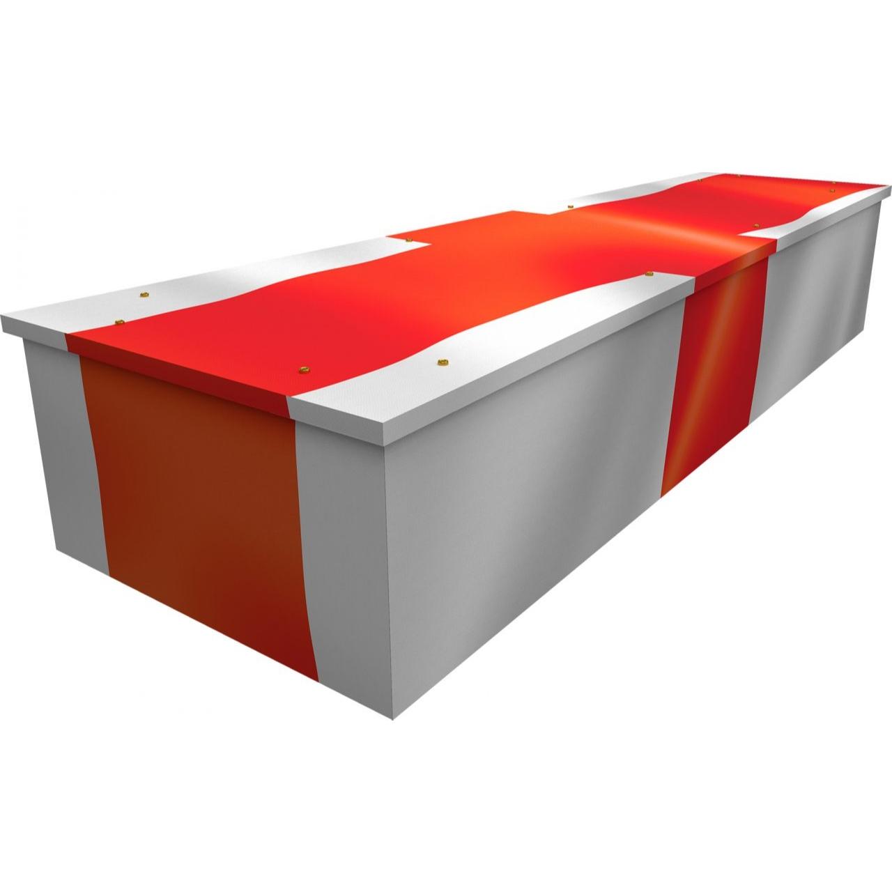 English Flag Cardboard Coffin