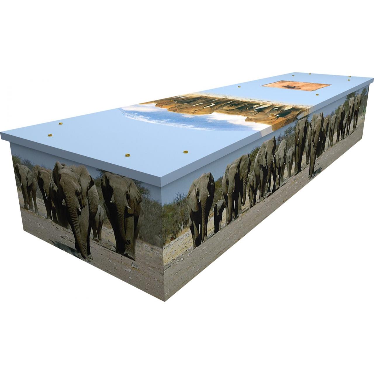 Elephants Cardboard Coffin