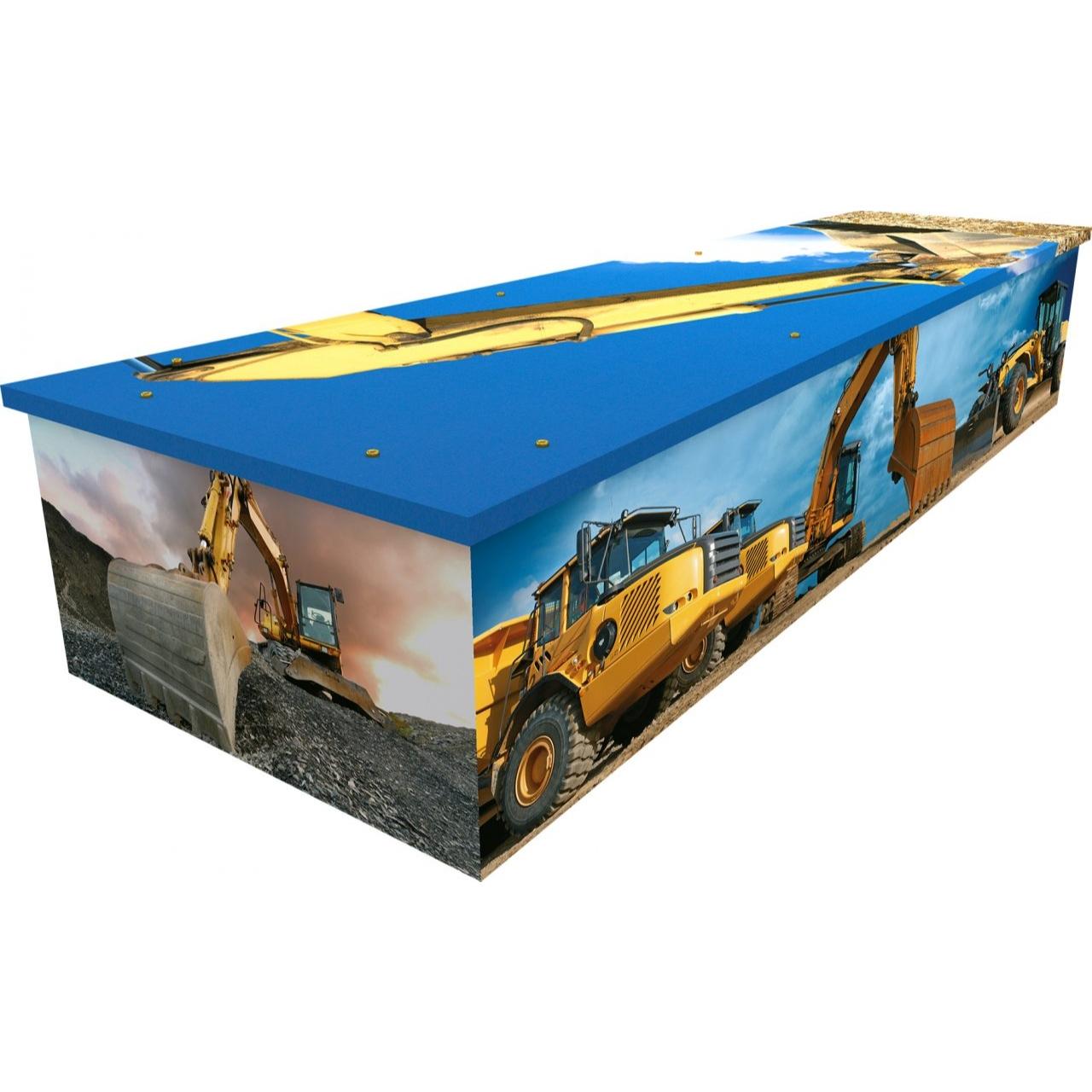 Digger Cardboard Coffin