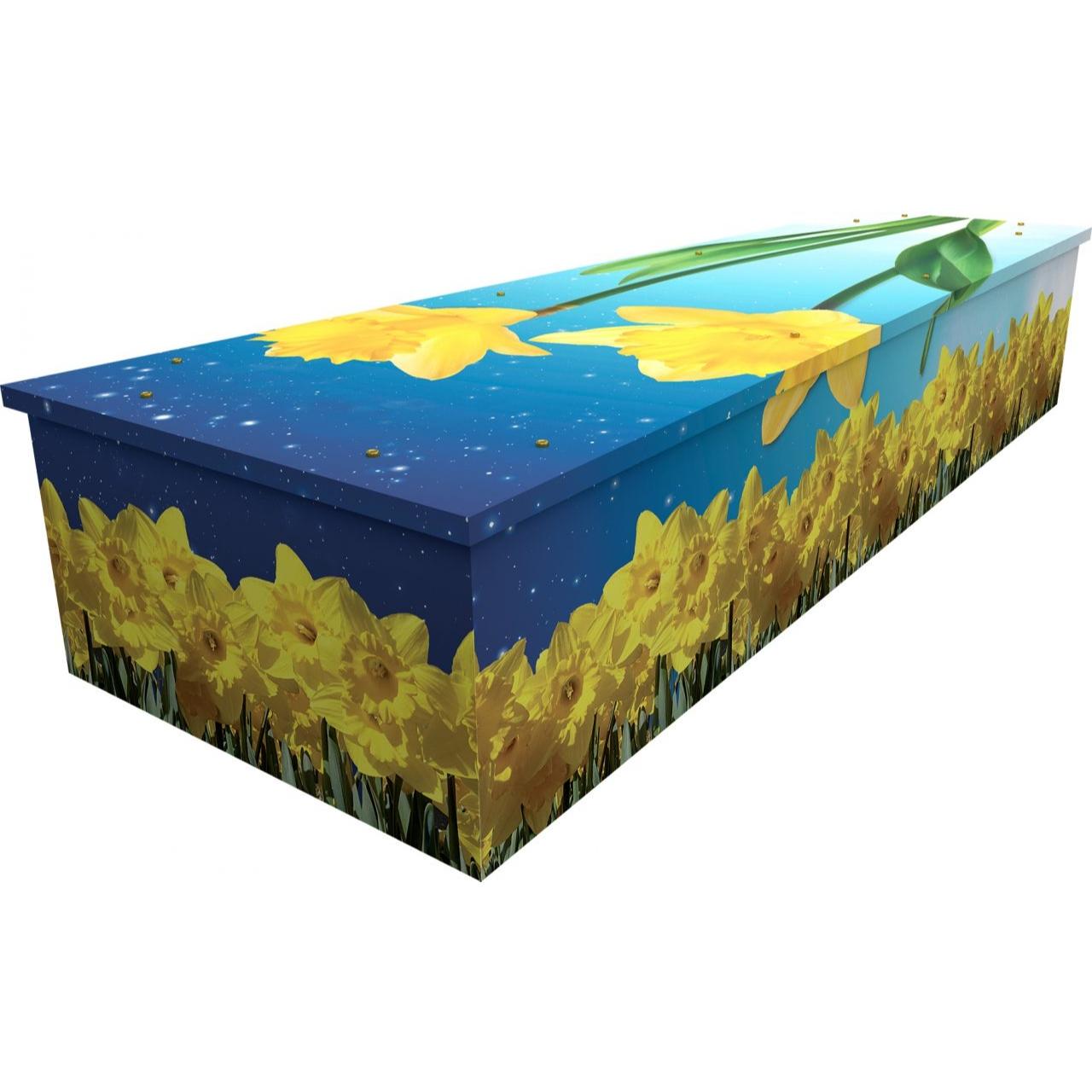 Daffodils Cardboard Coffin