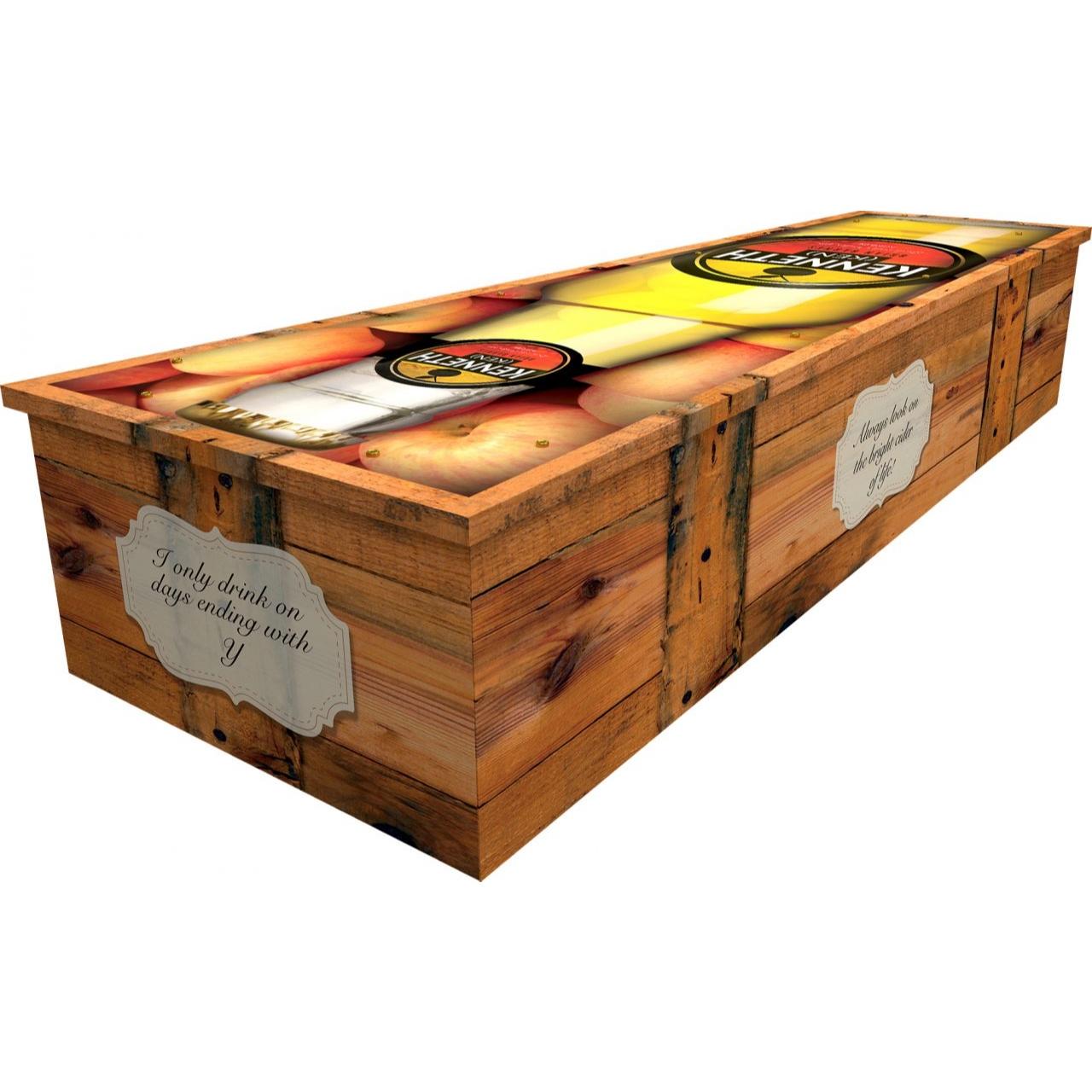 Cider Bottle Cardboard Coffin