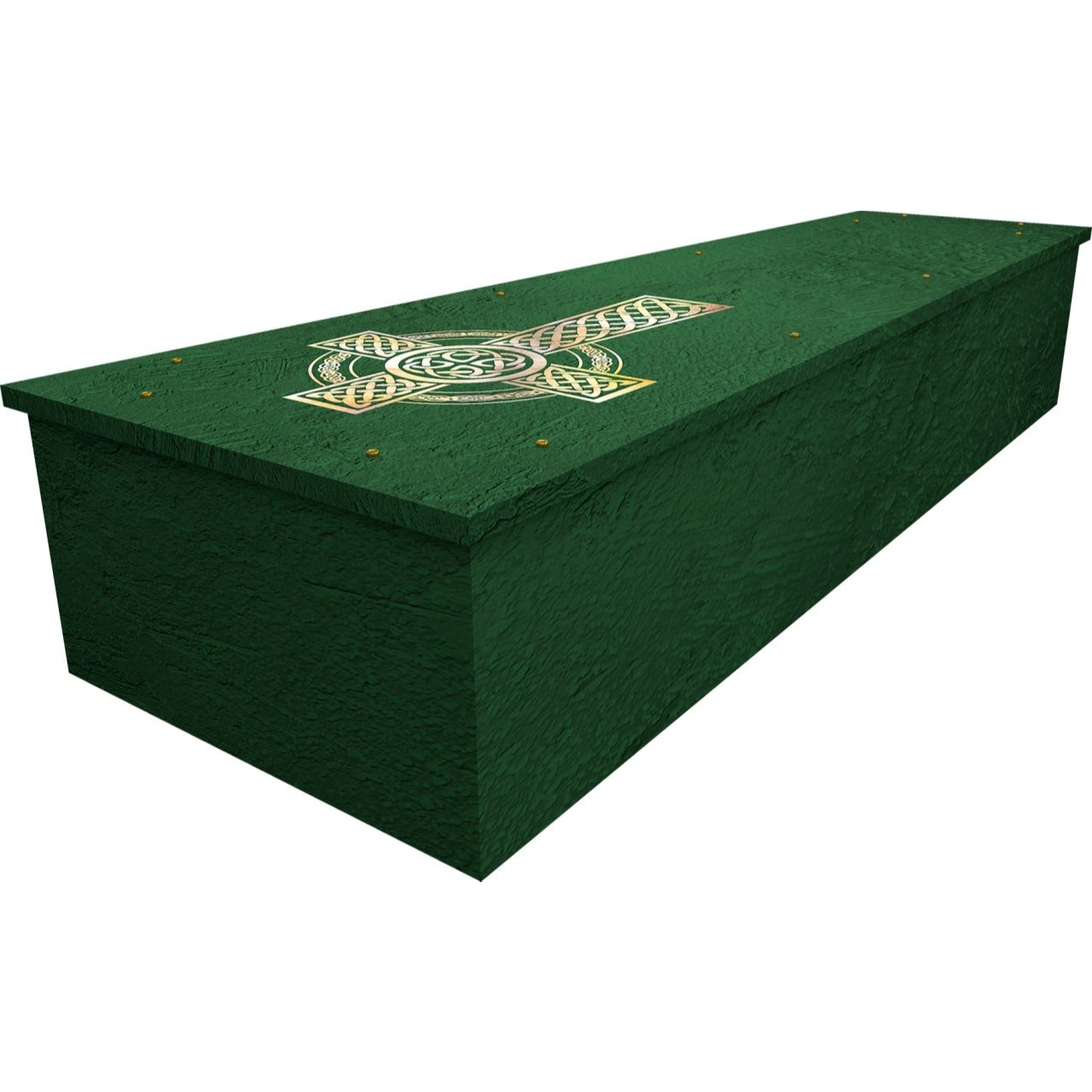 Celtic Cross Cardboard Coffin