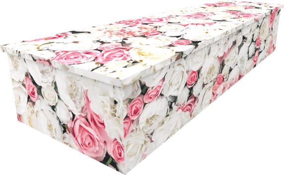 Pink Rose Wall Coffin - Side