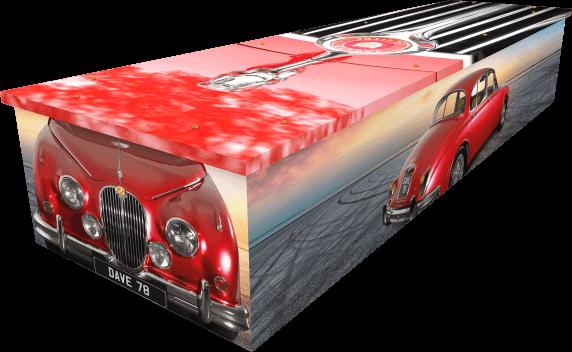 Jaguar Car Coffin - Side