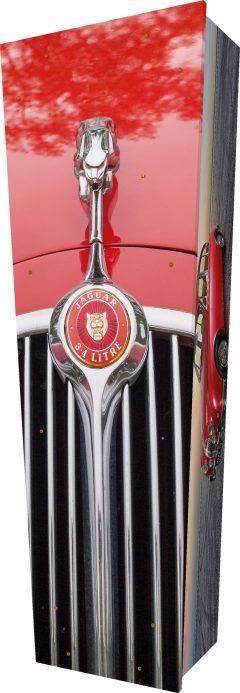 Jaguar Car Coffin - Standing