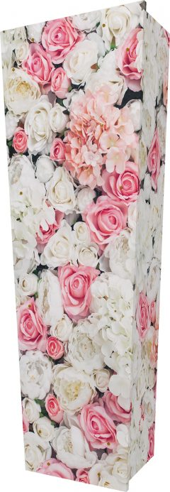 Pink Rose Wall Coffin - Standing