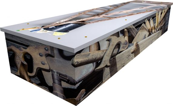 DIY Cardboard Coffin