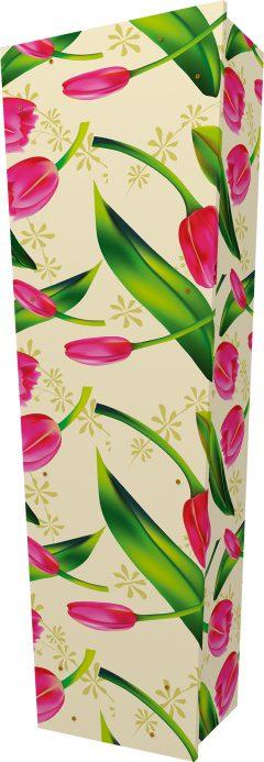 Tulip Pattern Coffin - Standing