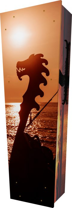 Viking Sunset Coffin - Standing