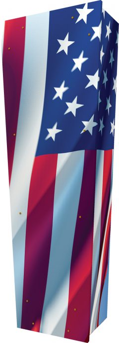 USA Flag Coffin - Standing