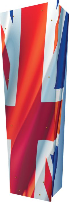 Union Jack Flag Coffin - Standing