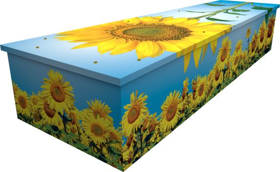 Sunflower Cardboard Coffin