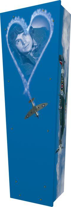 Spitfire Portrait Coffin - Standing