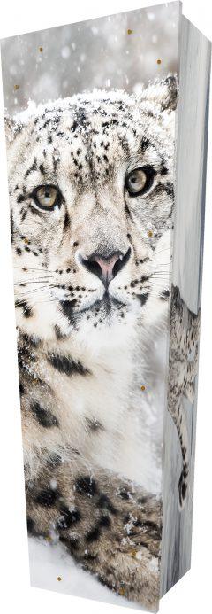 Snow Leopard Coffin - Standing