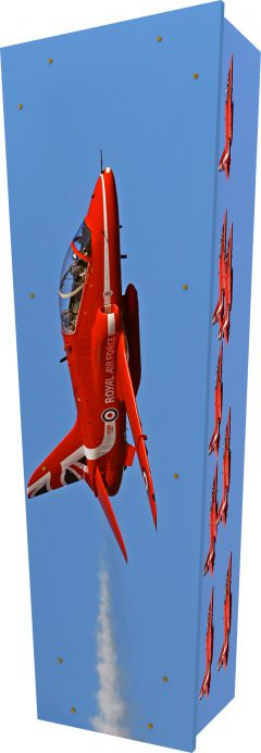 Red Arrows Coffin - Standing
