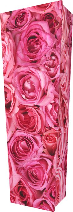 Pink Rose Coffin - Standing