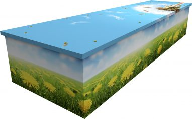 dandelion cardboard picture coffin