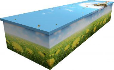 dandelion cardboard picture coffin