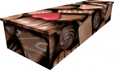 Chocolate cardboard picture coffin
