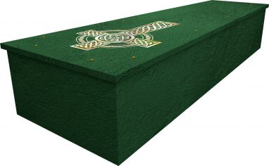Celtic Cross cardboard picture coffin