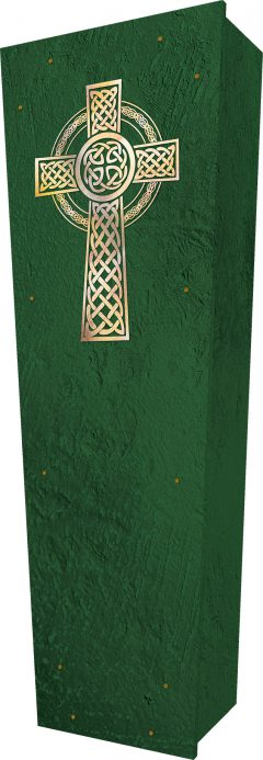 Celtic Cross Coffin - Standing
